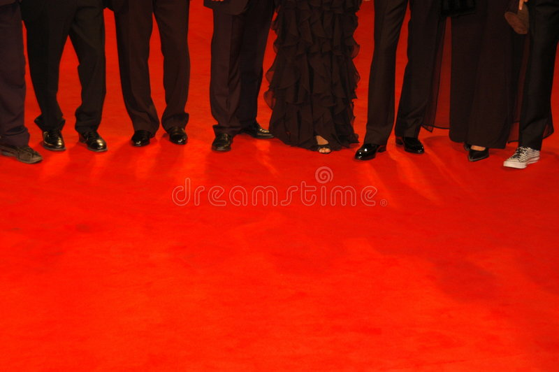 People on red carpet stock images