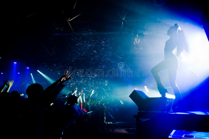 People relaxing at the concert royalty free stock photos
