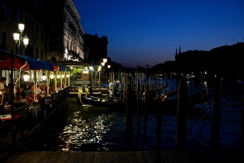Download People In Restaurant And Gondola At Grand Canal In Venice, Italy Editorial Photo - Image: 83706196