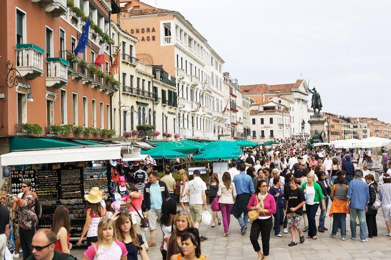 People In The Riva Degli Schiavoni, Venice Editorial Photo