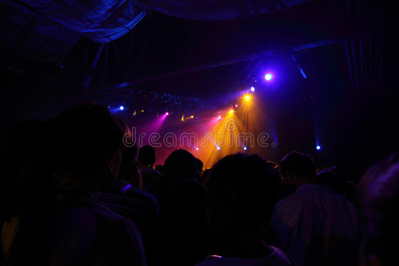 People Before Rock Concert Royalty Free Stock Photography