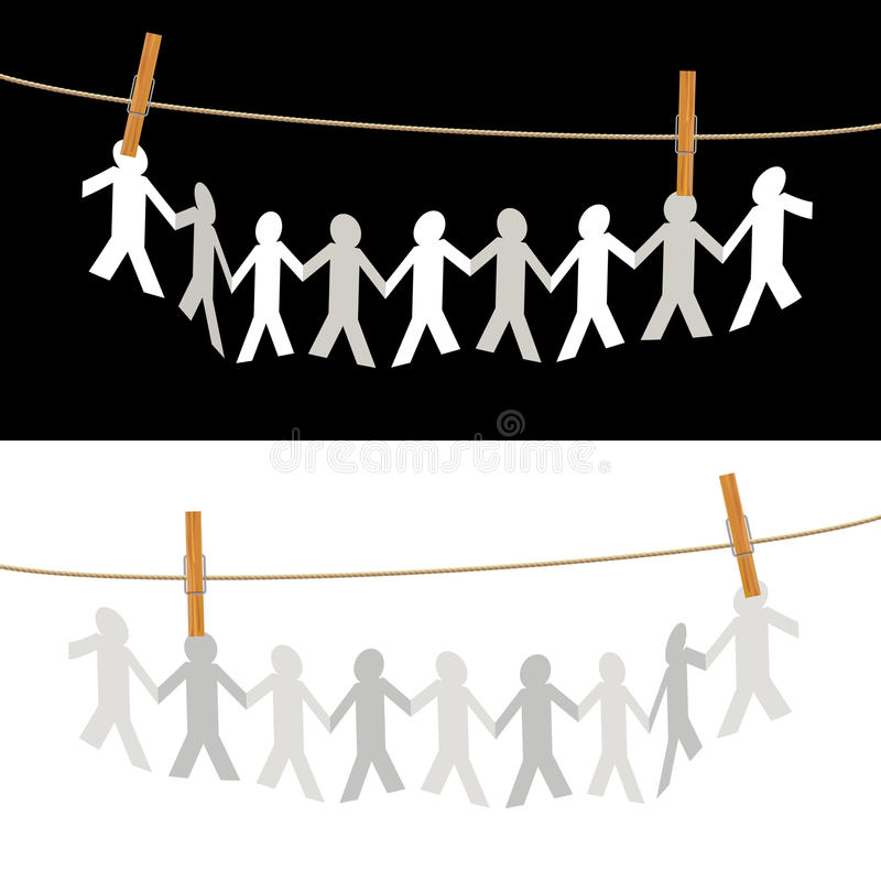 People On Rope Stock Images