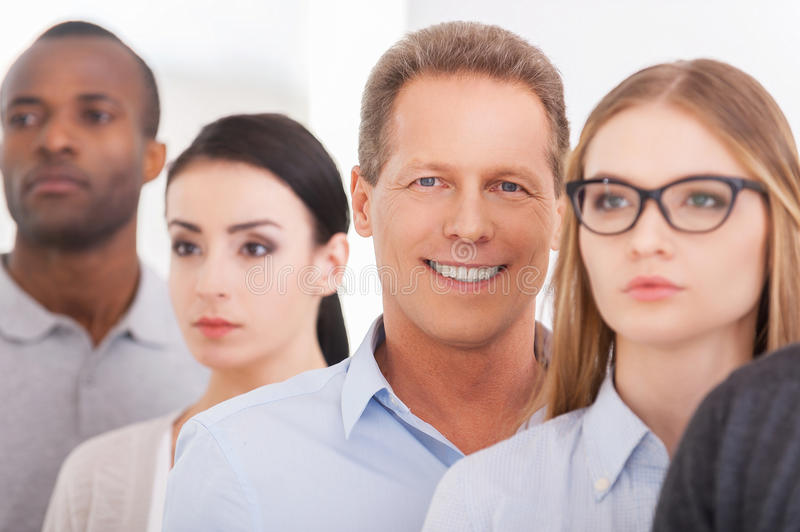 People in a row. royalty free stock photos