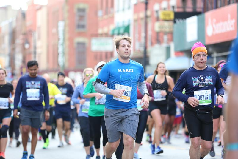 Marathon NYC 2019 sport event in Central Park stock photo