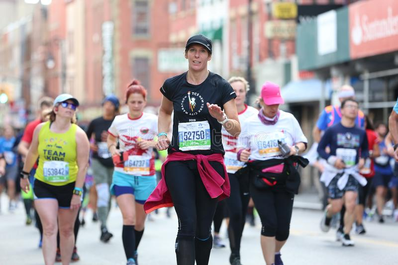 Marathon NYC 2019 sport event in Central Park stock photography