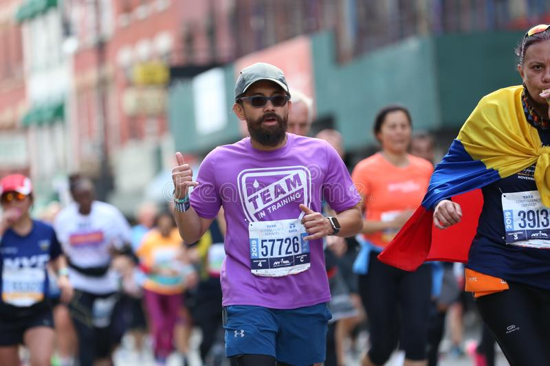 Marathon NYC 2019 sport event in Central Park royalty free stock images