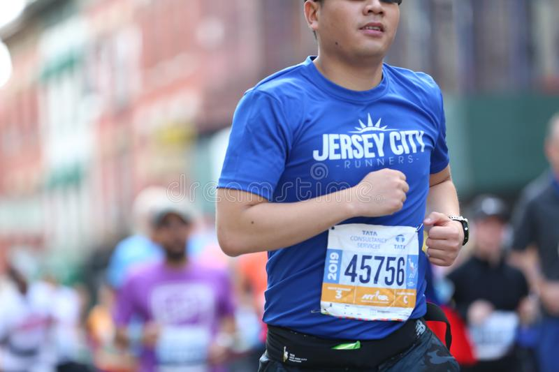 Marathon NYC 2019 sport event in Central Park stock images