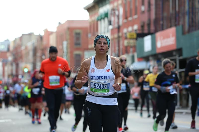 Marathon NYC 2019 sport event in Central Park royalty free stock photography