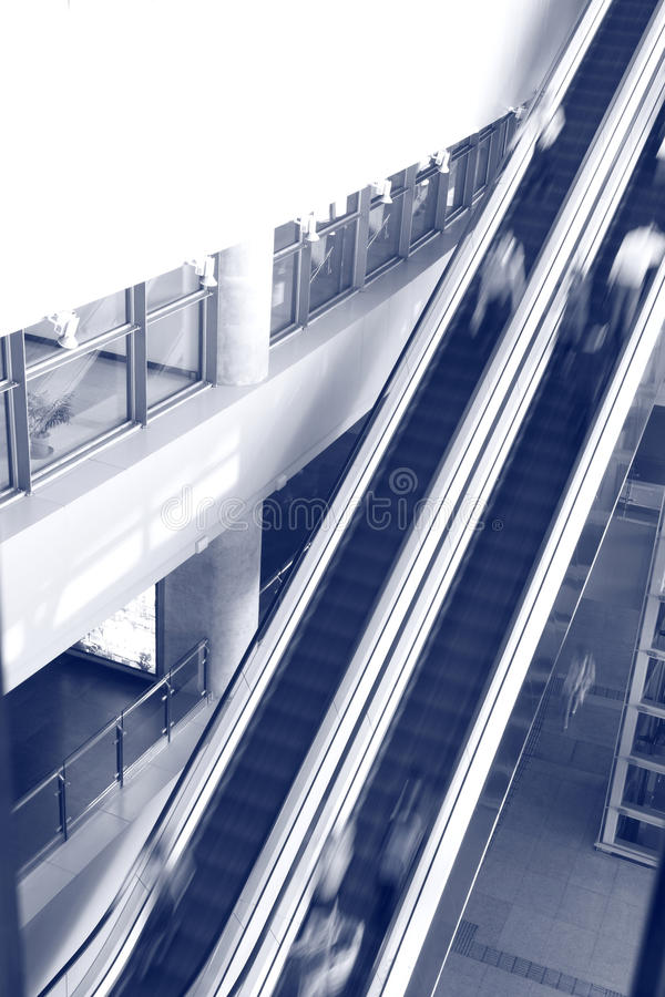 Download People Rush On A Escalator Motion Blurred Stock Photography - Image: 19767322