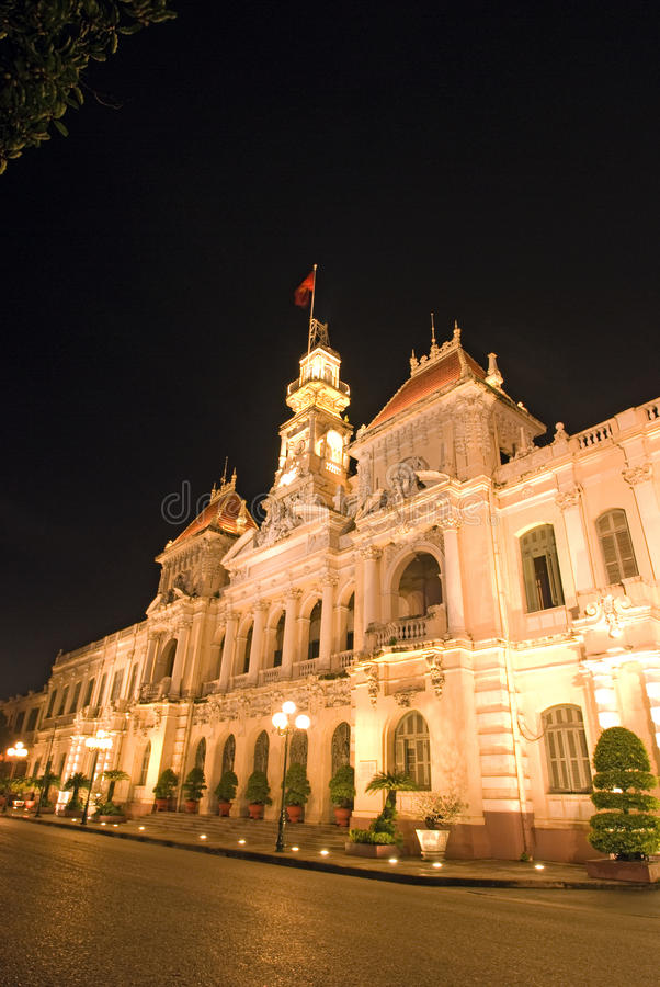 People's Committee building. In Ho Chi Minh City,Vietnam royalty free stock photos