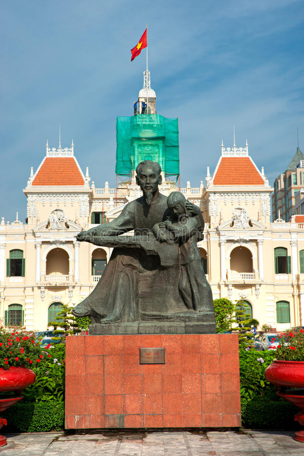 People's Committee building, Ho Chi Minh City. People's Committee building in Ho Chi Minh City, Vietnam royalty free stock images