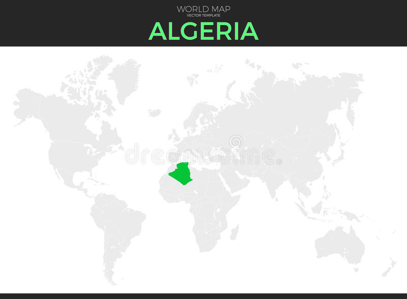 Peoples Democratic Republic Of Algeria Location Map Stock Vector
