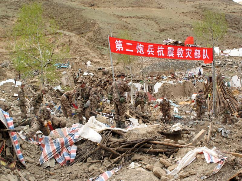 People's Liberation Army is working on relief stock images