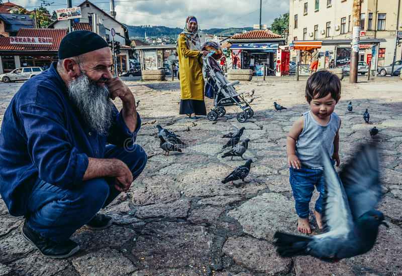 People in Sarajevo royalty free stock photography