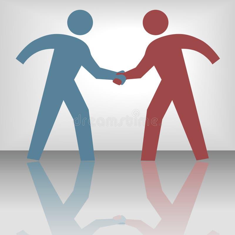 Download People Seal Agreement Deal Handshake Stock Vector - Image: 6015022