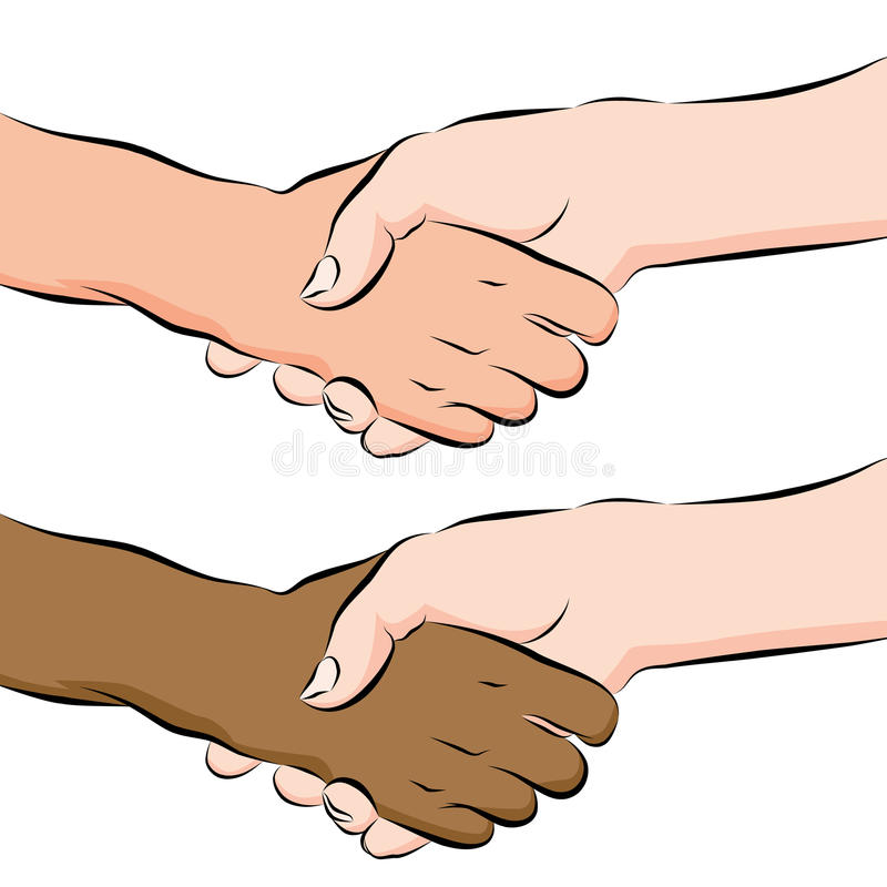 Download People Shaking Hands Line Drawing Stock Vector - Image: 19564099