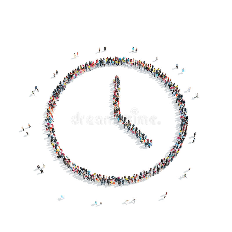 People in the shape of watches vector illustration