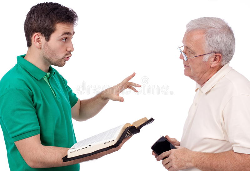 People sharing Gospel royalty free stock photography