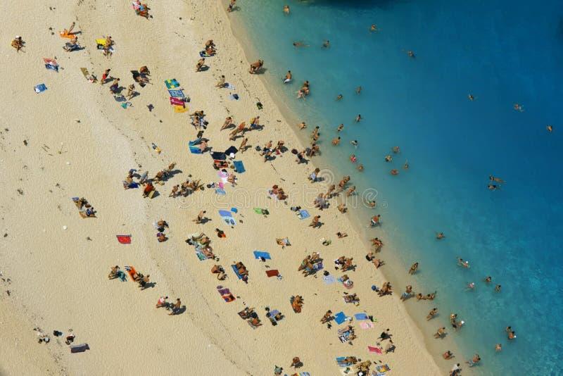 Download People At Shipwreck Beach At Zakynthos Island Stock Image - Image: 21366907