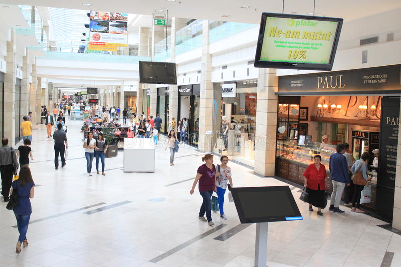 People in shopping mall royalty free stock images