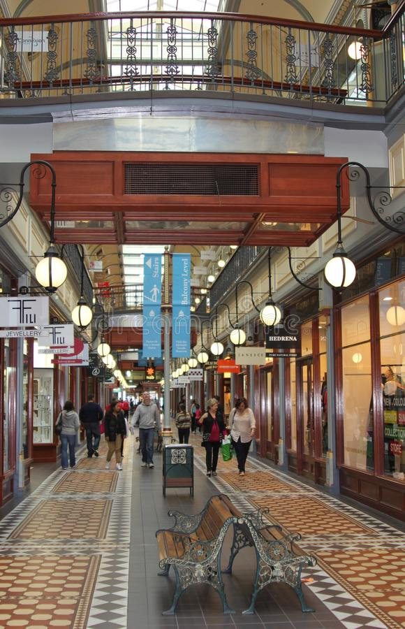 People are shopping in modern Rundle Mall,Adelaide, Australia royalty free stock image