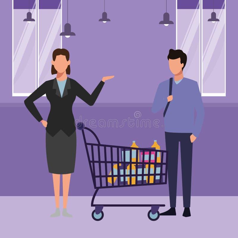 Supermarket Scenery Stock Illustrations – 163 Supermarket