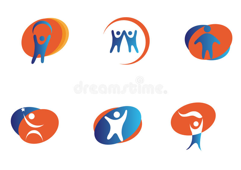 People signs royalty free illustration