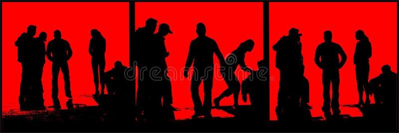 People silhouette vector illustration