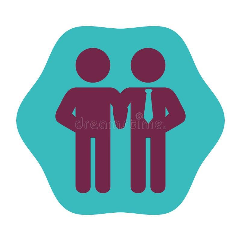 People silhouette teamwork icon. Illustration design royalty free illustration