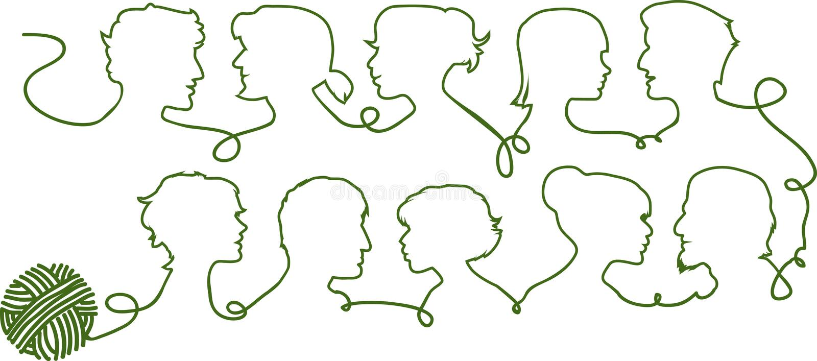 Download People silhouettes stock illustration. Image of join - 17670664