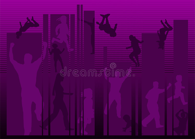Download People silhouettes stock vector. Image of wallpaper, sport - 2470716