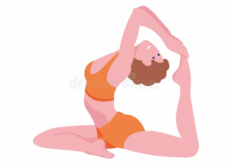 People silhouettes doing yoga on white background. Yoga class with people meditating and doing breathing exercise. Healthy life st. Yle. vector illustration vector illustration