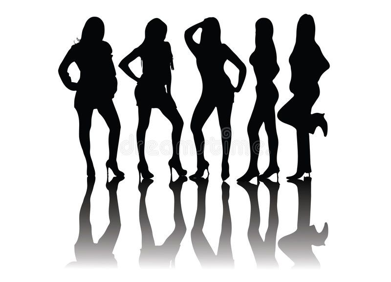 Download People Silhouettes - Models Stock Vector - Illustration: 5459207