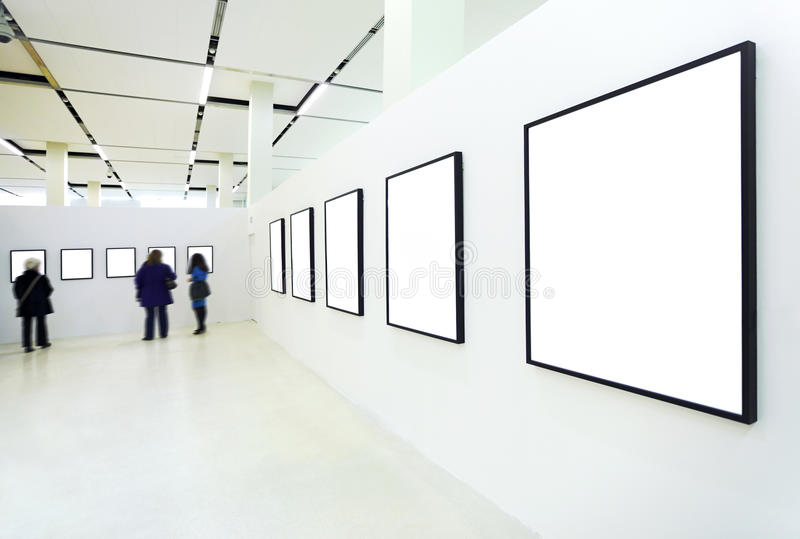 People Silhouettes In The Museum Stock Photos