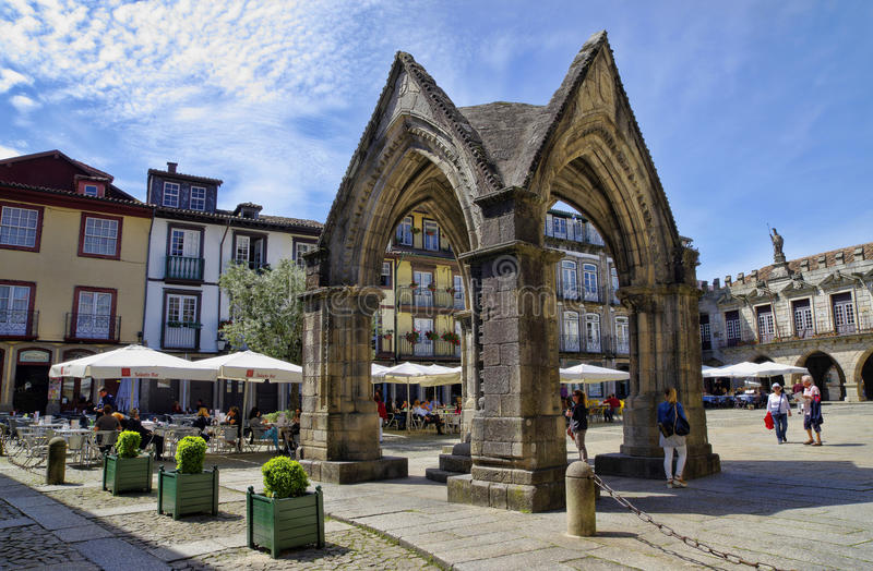 Download People Sit In Cafes, Guimaraes, Portugal Editorial Stock Image - Image of european, blue: 54863949