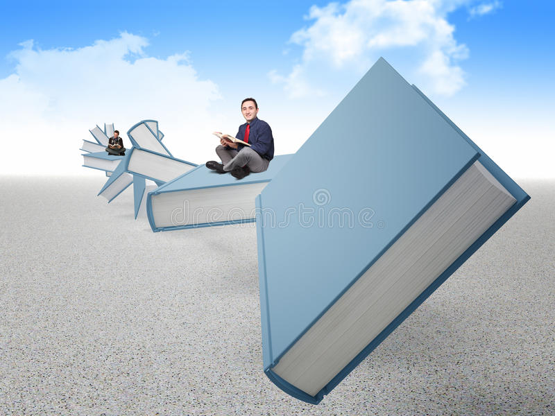 People On Book Stock Image