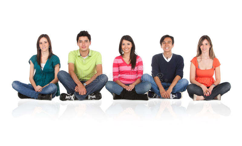 Download People Sitting On The Floor Stock Image - Image: 15519791