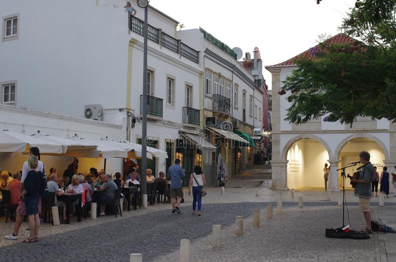 Restaurant by Europe`s first slave market royalty free stock photography