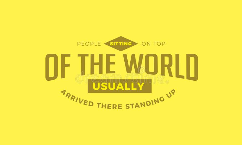 People sitting on top of the world vector illustration