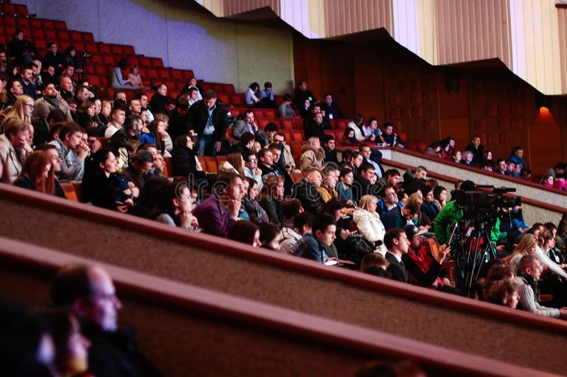 People Sitting Watching In The Theater royalty free stock photography