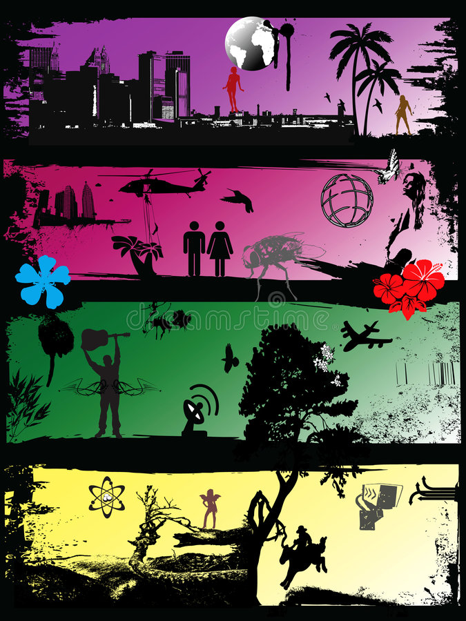 Download People in situations 2 stock vector. Image of flower, animals - 6205847