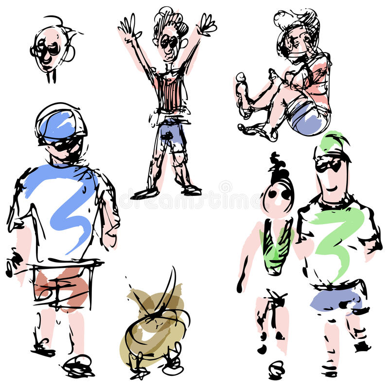 People Sketches Stock Images