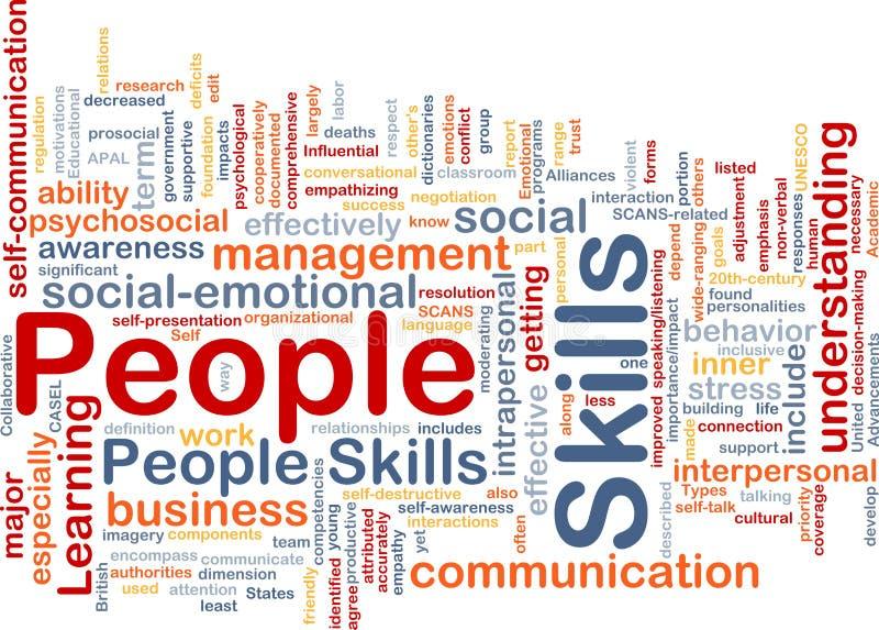 People skills background concept stock illustration