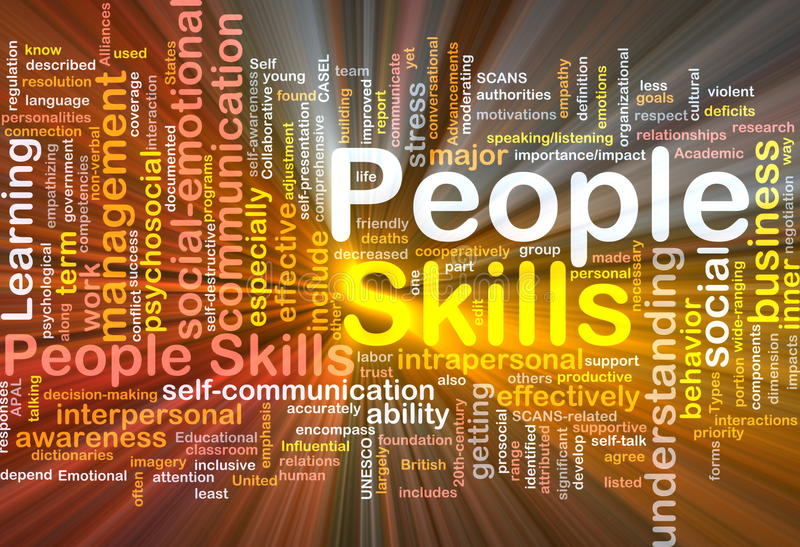 Download People Skills Background Concept Glowing Stock Illustration - Illustration of glowing, deficits: 19479647