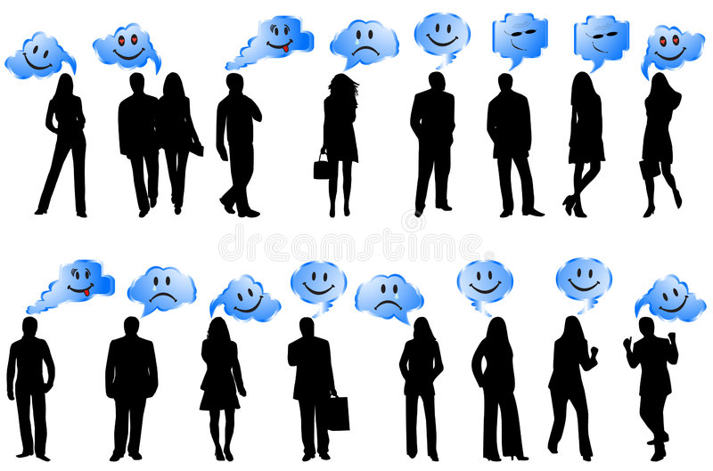 People and smiles royalty free illustration
