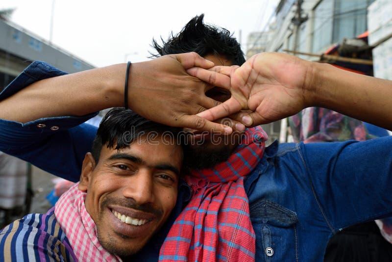 People smiling in Bangladesh royalty free stock photo