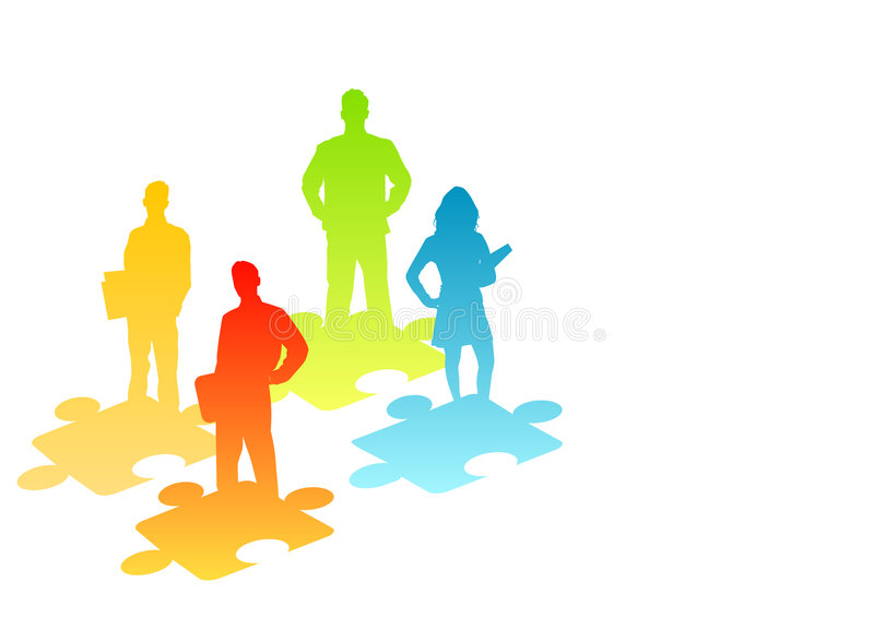 People Solutions stock illustration