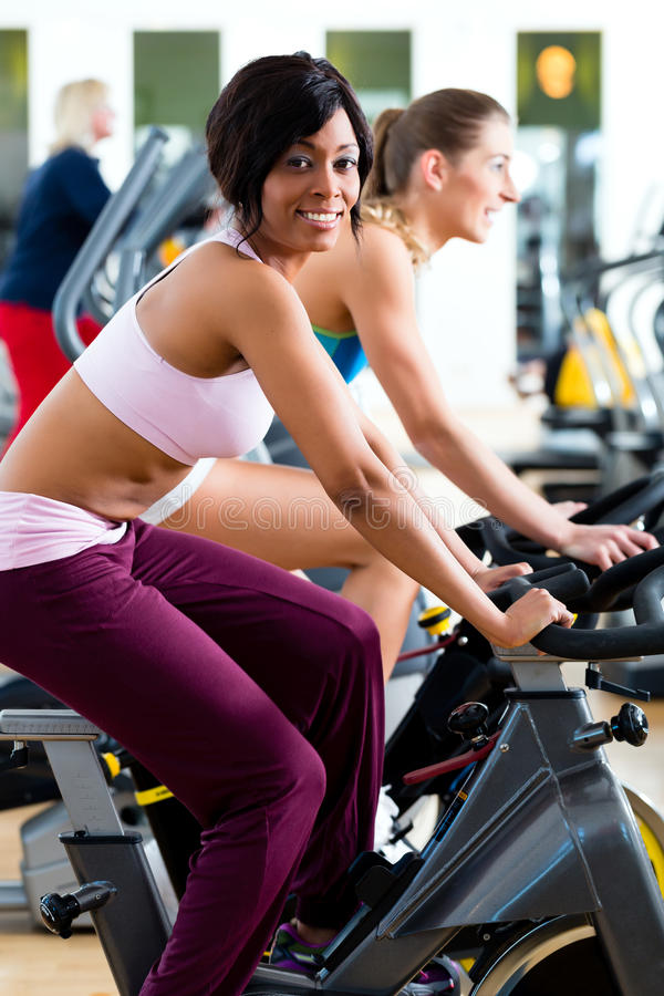 Download People Spinning In The Gym On Bicycles Stock Image - Image: 31285727