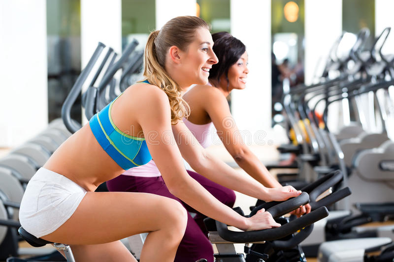 Download People Spinning In The Gym On Bicycles Stock Image - Image: 32187841