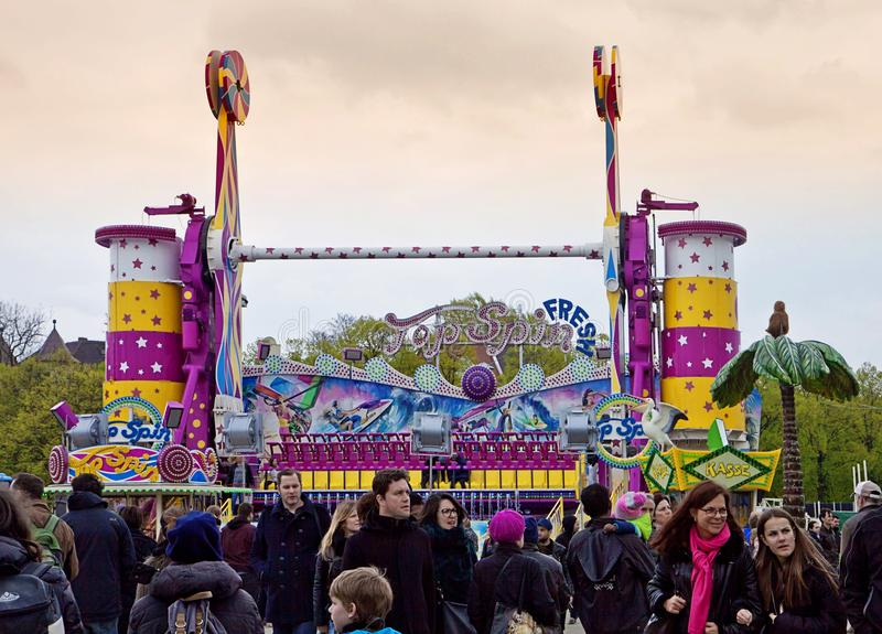 People at spring fair in Munich royalty free stock photo